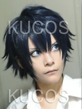Hot Ao No Blue Exorcist Rin Okumura Anime Cosplay Costume Wig  + free wig cap