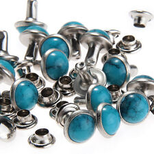 20pcs Turquoise Rivet Studs for Bag Shoes Clothing Leather Belt Craft