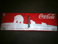 Coke 2011 Holiday WHITE Polar Bear 12oz 12 pack Can DISCONTINUED COLLECTORS ITEM