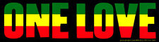 One Love - Reggae / Rasta Magnetic Bumper Sticker / Decal Magnet