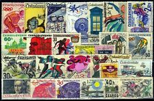 CZECHOSLOVAKIA 25 All Different Large Thematic Genuine Stamps Space Sports Etc.