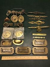 Mixed Lot of 25 Antique & Vintage Brass Drawer Cabinet Pulls Handles Hardware