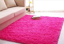 Ultra Soft 4.5 Cm Thick Indoor Morden Area Rug Hot Pink Girls Teen Shag 4' x 5'