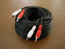 50Ft 2-RCA DUAL AUDIO MALE PATCH CORD CABLE TV DVD STEREO RECEIVER 50 Ft NEW
