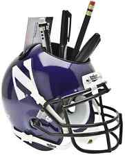 NORTHWESTERN WILDCATS NCAA Schutt Mini Football Helmet DESK CADDY