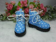 Mimiwoo MSD DOC 1/4 Bjd Sasha Obitsu 60cm Doll Boots High Hill Dots Shoes BLUE