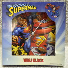"SUPERMAN 7"" WALL CLOCK DC 2004 MIB Battery Operated"