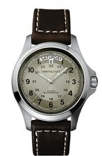 Hamilton Khaki Field King Auto H64455523 Beige / Brown Leather Analog Automatic
