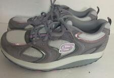 Skechers Shape Ups Women Gray and Pink Walking Shoes 11806 Size 9 Medium