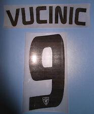 lecce kit VUCINIC nero plastica Nameset maglia calcio asics