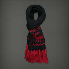 NWT Women Abercrombie Scarf Holiday Red Winter Warm Knit Classic Long A&F