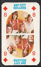 Monty Gum 1970's Gum Card - The Bay City Rollers Music Card - Eight of Diamonds
