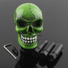 Universal Carved Wicked Skull Manual Gear stick Shift Shifter Lever Knob Green