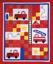 ~ BRIGHT NEW PATTERN ~  ~ RES Q ME KID'S QUILT ~ FOR YOUR FUTURE FIREMAN ~
