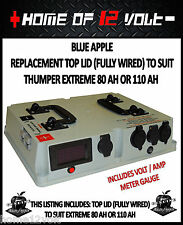 Thumper GENUINE REPLACEMENT Top Lid FULLY WIRED - EXTREME 80AH 110AH Battery pk