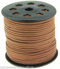 10ya 3mm brown Suede Leather String Jewelry Making Thread Cords hot