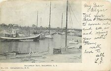 c1906 Postcard; Boats in Baldwin Bay, Baldwin L.I. NY Nassau County Unposted