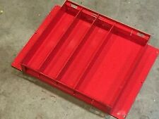 615 Weather Guard Steel Tool Box Tray - Red w/ Dividers NEW Super Deal