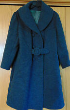 BRADLEY NEW YORK WOMENS GRAY WOOL/WOOL BLEND COAT PEA COAT TRENCH SIZE LP