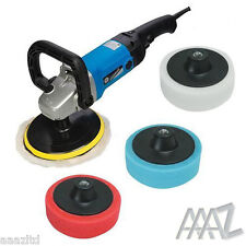 Silverline Car Polisher Buffer Sander inc Polishing Sponges 1200w Polisher