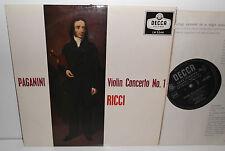 """LW 5344 Paganini Violin Concerto No.1 Ruggiero Ricci 10"""""""