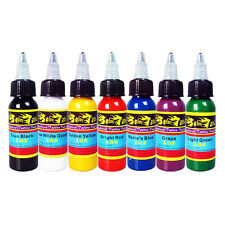 Solong Tattoo Ink 7 Colors Set 1oz 30ml/Bottle Tattoo Pigment Kit Free Shipping
