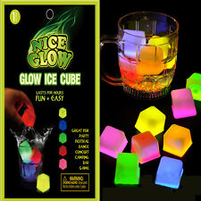 LED Glow Ice Cubes Multiple Color Lights up Toy Party Bars and Festival 6 PCs