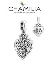 Genuine CHAMILIA 925 sterling silver Swarovski ONCE UPON A TIME charm bead heart