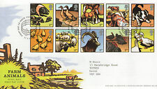 "GB FDC 2005 ""FARM ANIMALS"" SP/HS"