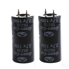 2Pcs Super Capacitor 2.7V 100F Ultra Capacitor Farad New