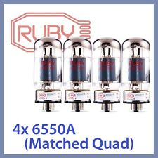 4x NEW Ruby 6550A-STR 6550ASTR Vacuum Tubes, Matched Quad TESTED
