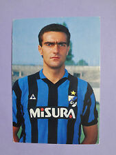 PHOTO CARTOLINA UFFICIALE POSTCARD SOCCER INTER BERGOMI 1986-87 NEW-FIO