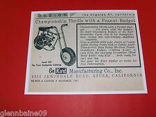 WOW! Vintage & Rare 1961  SCRAMBLER CYCLE  Mini-Bike Ad