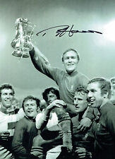 Ron Chopper HARRIS Signed Autograph Chelsea 16x12 Cup Winning Photo AFTAL COA