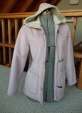 WOOLRICH Microsuede Pink Toggle Coat Fleece Lined Hooded WOOLRICH Coat SMALL