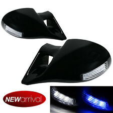 For 99-04 E46 2DR M-3 Style LED Signal Powered Glossy Black Side View Mirror