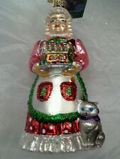 "Old World Christmas ""Mrs. Claus"" Ornament-GLASS Santas Helper OWC"
