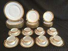 40 PIECE SERVICE FOR 8 LIMOGES CERALENE A RAYNAUD ET CIE AMBASSADOR GOLD