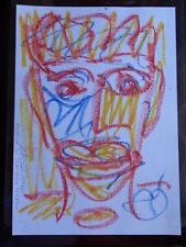 ROYSTON DU MAURIER-LEBEK ORIGINAL PORTRAIT SIGNED CRAYON DRAWING ON  PAPER X2