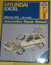 1986-1991 Hyundai Excel Automotive Repair Manual! Nice See!