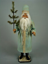 "24,2""Paper mache*German  Santa* candy container *(pale blue)by Paul Turner"