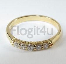 18ct Oro Giallo 5-pietra 0.25ct Anello di fidanzamento Taglia p/56 £ 925 NUOVO