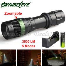 3500LM CREE XML T6 torcia Luce flash LED Zoom Batteria Ricaricabile +Caricatore