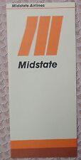 Midstate Airlines 1983 Ticket Envelope - Jacket  - unused