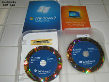 Microsoft Windows 7 Professional Full 32 bit & 64 bit MS WIN PRO=NEW RETAIL BOX=