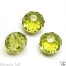 big sparkling flat round faceted crystal beads  14x11, 12x9 mm