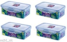 4x Lock and & LOCK Food Storage CONTENITORE RETTANGOLARE 1L - 207x134x70mm-hpl817