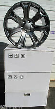 "22"" NEW GMC YUKON SIERRA FACTORY STYLE TRUE GUNMETAL WHEELS RIMS 5660"
