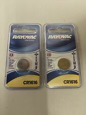 Set of 2 Genuine Rayovac CR1616 Lithium Watch Coin Cell Batteries USA SHIPPING