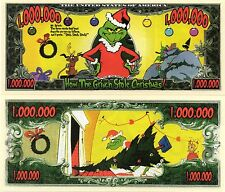 How the Grinch Stole Christmas Million Dollar Novelty Money